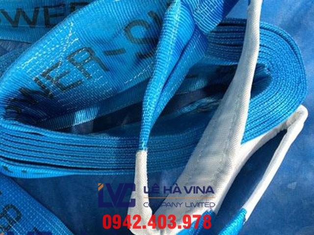 Cáp vải cẩu hàng bản dẹt, Cáp vải cẩu hàng, Cáp vải, Cáp vải cẩu hàng bản dẹt 2 đầu mắt Hàn Quốc, Cáp vải cẩu hàng bản dẹt 2 đầu mắt Hàn Quốc 6 tấn, công ty TNHH Lê Hà Vina, Lê Hà Vina, Cấu tạo của cáp vải cẩu hàng bản dẹt, Đặc điểm của cáp vải cẩu hàng, Mua cáp vải cẩu hàng