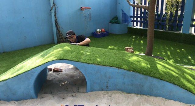 Công ty Lê Hà Vina, Cỏ nhân tạo, Công ty Lê Hà Vina thi công sân chơi cỏ nhân tạo, sử dụng cỏ nhân tạo cho sân chơi