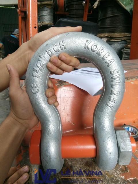 Ma ní, Công ty TNHH Lê Hà Vina, Cung cấp ma ní chốt an toàn, công ty Vasco, dây cáp, dây xích, mua ma ní chốt an toàn 12T